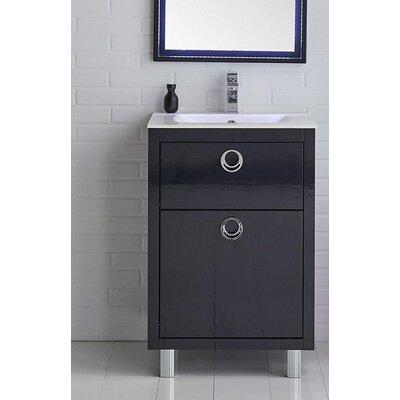 Platinum 24 Due Single Bathroom Vanity Set Base Finish: Glossy Cobalt