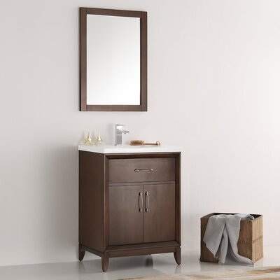 Cambridge 24 Single Bathroom Vanity Set with Mirror Base Finish: Antique Coffee