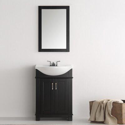 Cambria 24 Single Bathroom Vanity Set Base Finish: Black