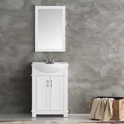Cambria 24 Single Bathroom Vanity Set Base Finish: White