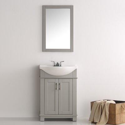 Cambria 24 Single Bathroom Vanity Set Base Finish: Gray