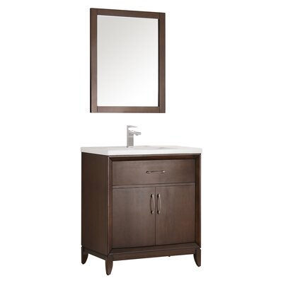 Cambridge 30 Single Bathroom Vanity with Mirror Base Finish: Antique Coffee