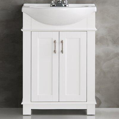 Cambria 23 Single Bathroom Vanity Set Base Finish: White