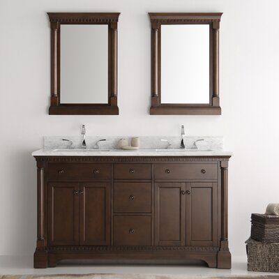 Kingston 60 Double Sink Bathroom Vanity Set with Mirror