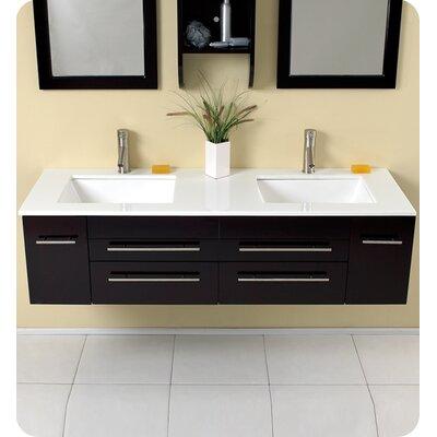 Stella Bellezza 59 Double Bathroom Vanity Set with Mirrors