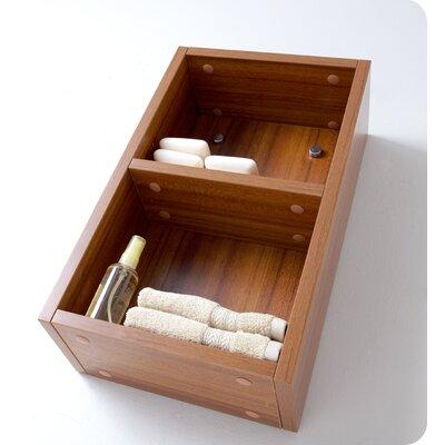 "11.88"" x 19.63"" Bathroom Linen Side Cabinet Finish: Teak"