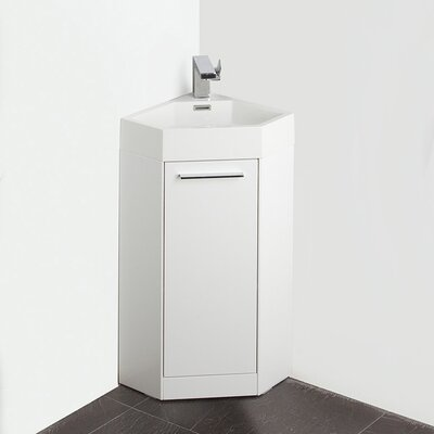 Lucida 14 Single Coda Modern Corner Bathroom Vanity Set