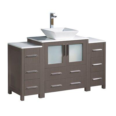 Torino 54 Single Bathroom Vanity Set Base Finish: Gray Oak
