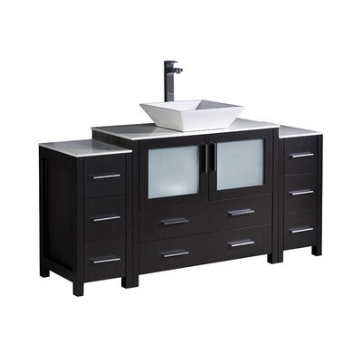 Torino 60 Single Bathroom Vanity Set Base Finish: Espresso