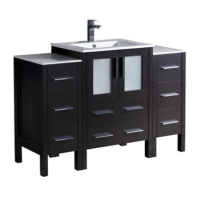 Torino 48 Single Bathroom Vanity Set Base Finish: Espresso