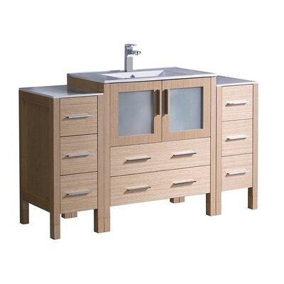 Torino 54 Single Bathroom Vanity Set Base Finish: Light Oak