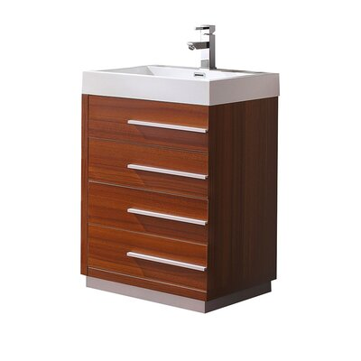 Livello 23 Single Bathroom Vanity Set Base Finish: Teak