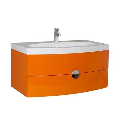 Energia 36 Single Bathroom Vanity Set Base Finish: Orange
