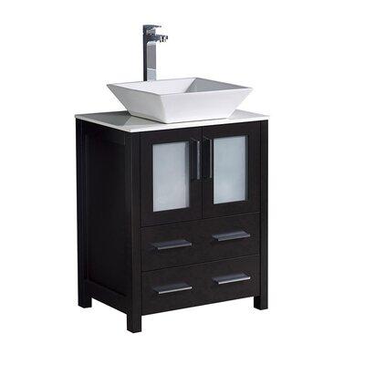Torino 24 Single Bathroom Vanity Set Base Finish: Espresso