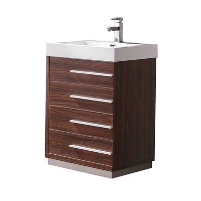 Livello 23 Single Bathroom Vanity Set Base Finish: Walnut