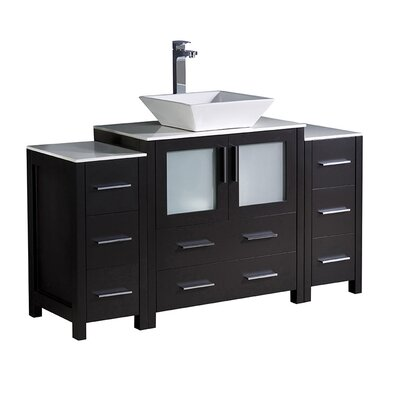 Torino 54 Single Bathroom Vanity Set Base Finish: Espresso