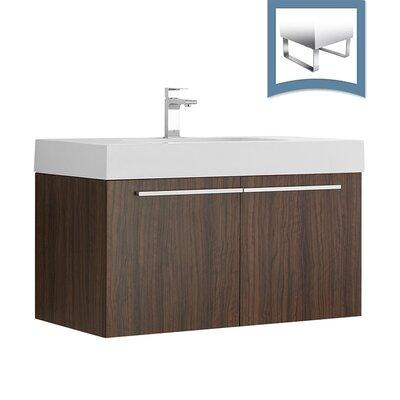 Vista 35 Single Bathroom Vanity Set Base Finish: Walnut