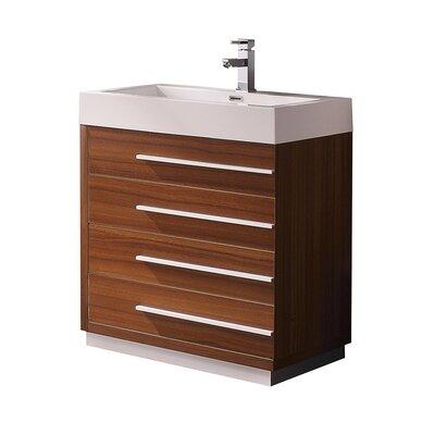 Livello 29 Single Bathroom Vanity Set Base Finish: Teak
