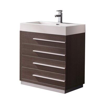 Livello 29 Single Bathroom Vanity Set Base Finish: Gray Oak