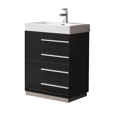 Livello 23 Single Bathroom Vanity Set Base Finish: Black