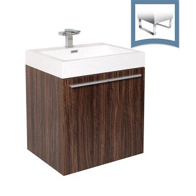 Alto 23 Single Bathroom Vanity Set Base Finish: Walnut