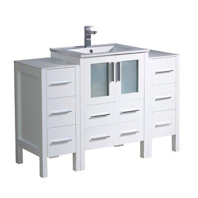 Torino 48 Single Bathroom Vanity Set Base Finish: White