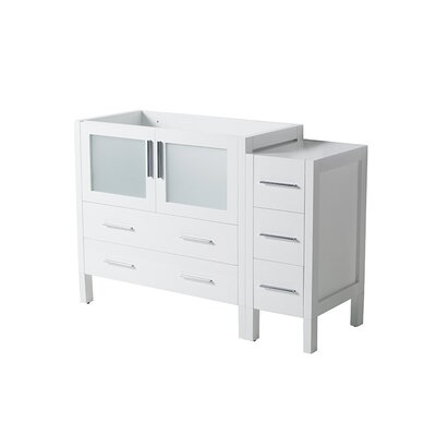 Torino 48 Single Bathroom Vanity Base Base Finish: White
