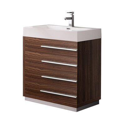 Livello 29 Single Bathroom Vanity Set Base Finish: Walnut