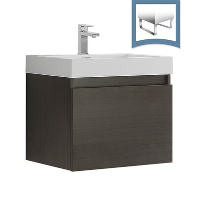 Nano 23 Single Bathroom Vanity Set Base Finish: Gray Oak
