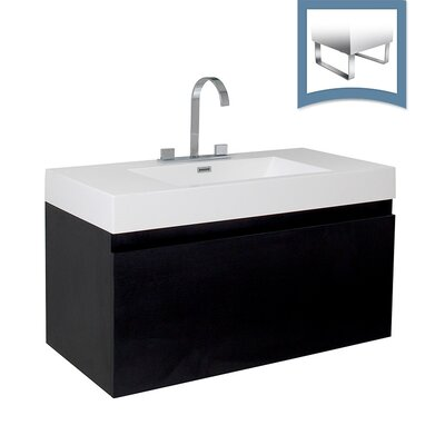 Mezzo 39 Single Bathroom Vanity Set Base Finish: Black