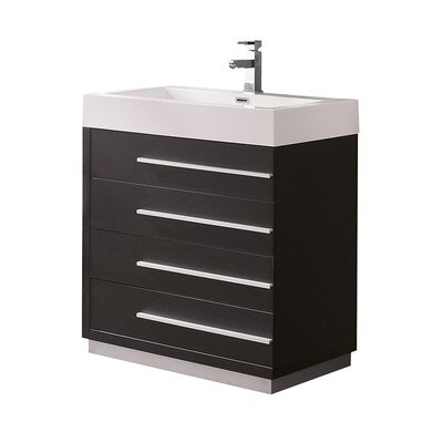 Livello 29 Single Bathroom Vanity Set Base Finish: Black