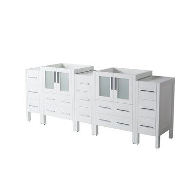 Torino 72 Double Bathroom Vanity Base Base Finish: White