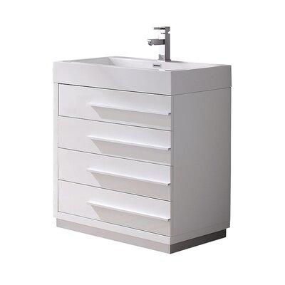 Livello 29 Single Bathroom Vanity Set Base Finish: White