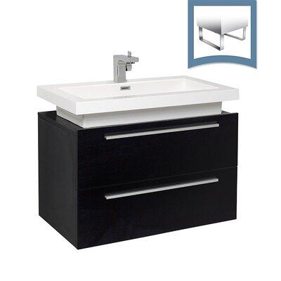 Medio 31 Single Bathroom Vanity Set Base Finish: Black
