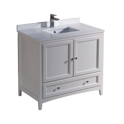 Oxford 36 Single Bathroom Vanity Set Base Finish: Antique White