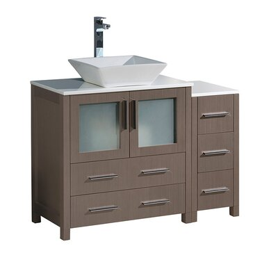 Torino 42 Single Bathroom Vanity Set Base Finish: Gray Oak