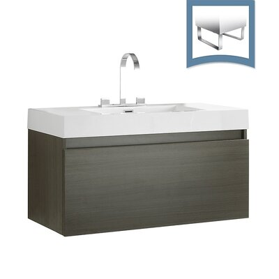Mezzo 39 Single Bathroom Vanity Set Base Finish: Gray Oak