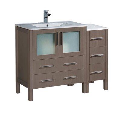 Torino 42 Single Bathroom Vanity Set Base Finish: Gray Oak