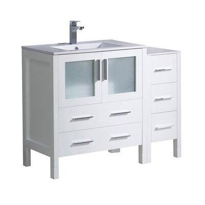 Torino 42 Single Bathroom Vanity Set Base Finish: White