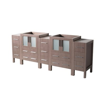 Torino 72 Double Bathroom Vanity Base Base Finish: Gray Oak