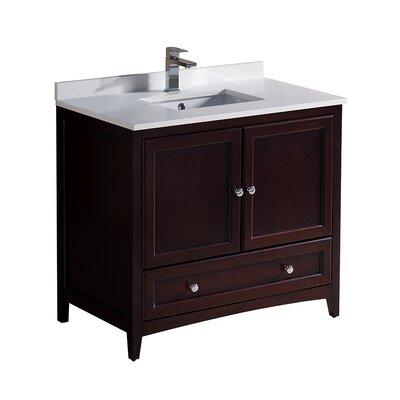 Oxford 36 Single Bathroom Vanity Set Base Finish: Mahogany