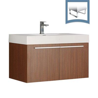 Vista 35 Single Bathroom Vanity Set Base Finish: Teak