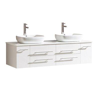 Bellezza 59 Double Bathroom Vanity Set Base Finish: White
