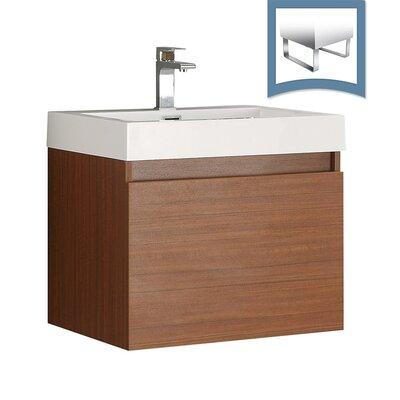 Nano 23 Single Bathroom Vanity Set Base Finish: Teak