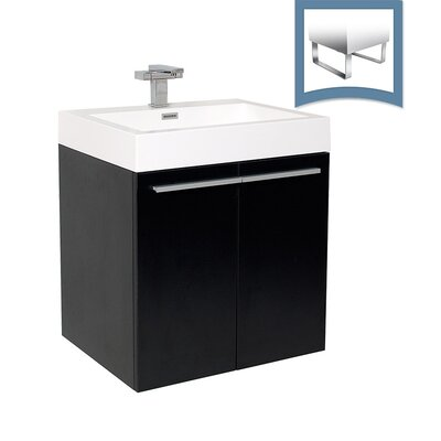 Alto 23 Single Bathroom Vanity Set Base Finish: Black
