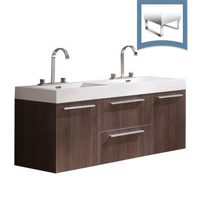 Opulento 54 Double Bathroom Vanity Set Base Finish: Gray Oak
