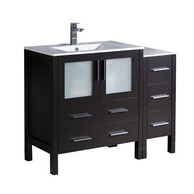 Torino 42 Single Bathroom Vanity Set Base Finish: Espresso