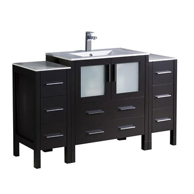 Torino 54 Single Bathroom Vanity Set Base Finish: Espresso