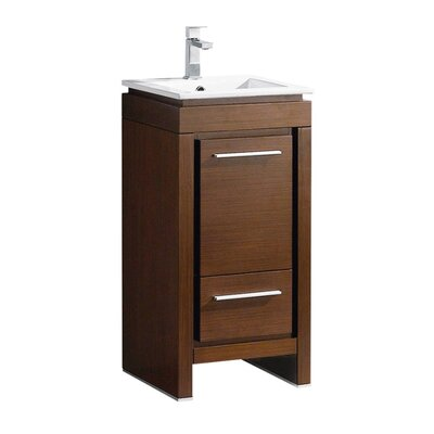 Allier 16 Single Bathroom Vanity Set Base Finish: Wenge Brown