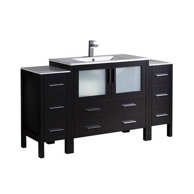 Torino 60 Single Bathroom Vanity Set Base Finish: Espresso